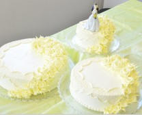 003 - 黄色玫瑰 (三层结婚蛋糕)