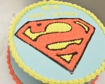 超人标志蛋糕