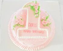 1字造型生日蛋糕