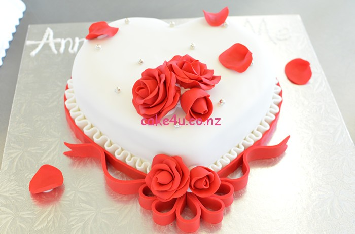 翻糖-心形蛋糕