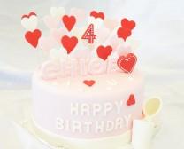 翻糖蛋糕-粉色爱心(加厚)