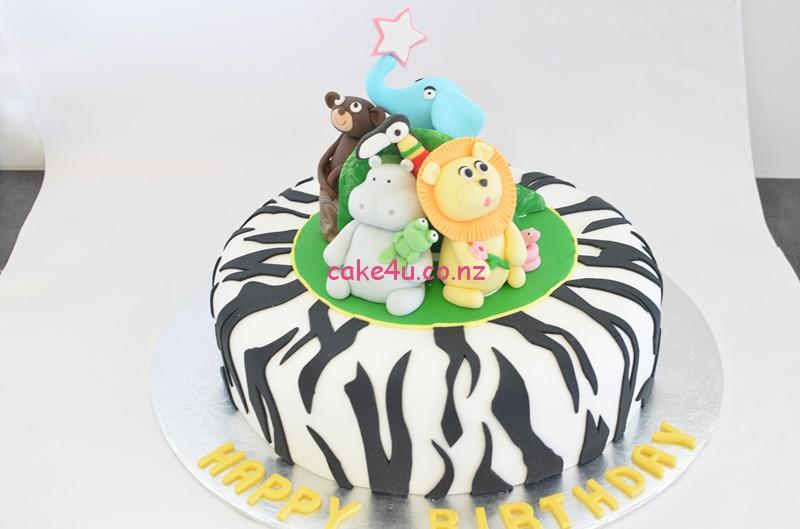 翻糖蛋糕-动物组合_副本