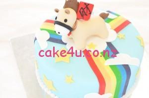 翻糖蛋糕-小马
