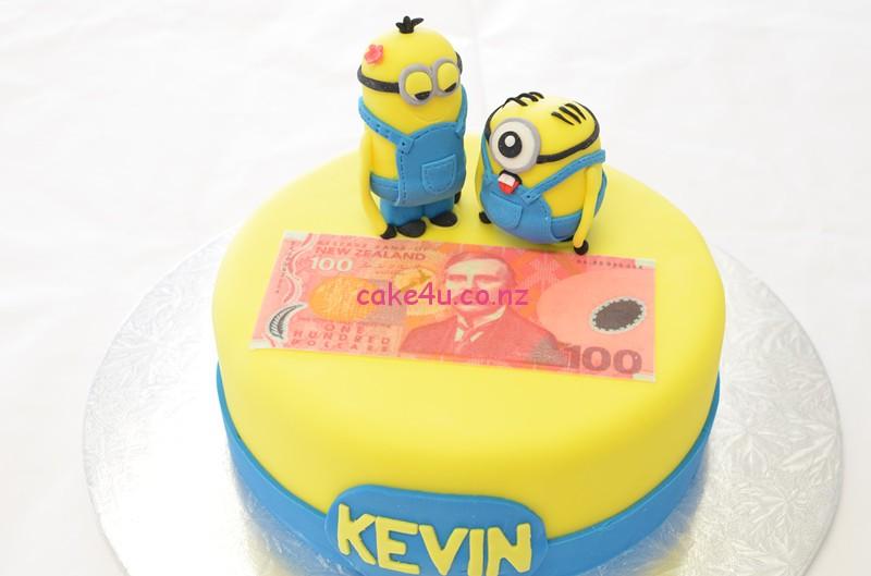 翻糖蛋糕 - 小黄人