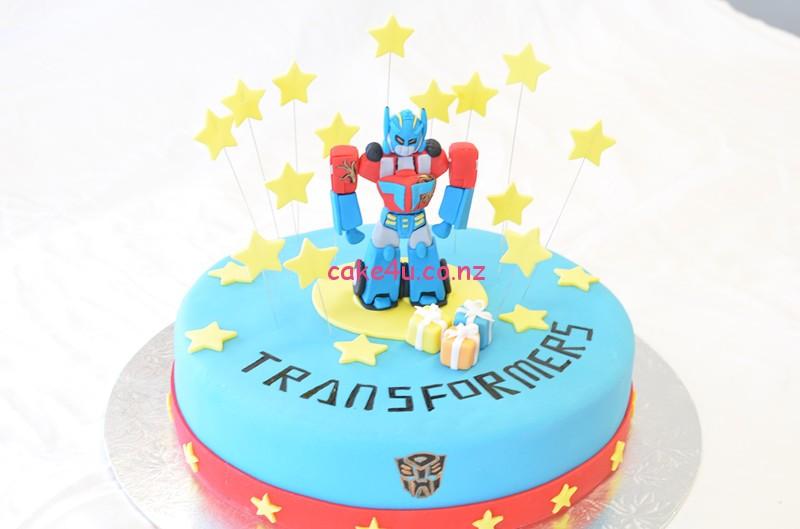 翻糖蛋糕-机器人(Transformers)
