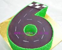 6字造型车道