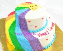 双层彩虹蛋糕