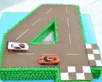 4字造型车道(不包小车)